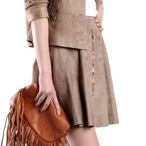 George J. Love - Skirt 100% Goat Suede, size M